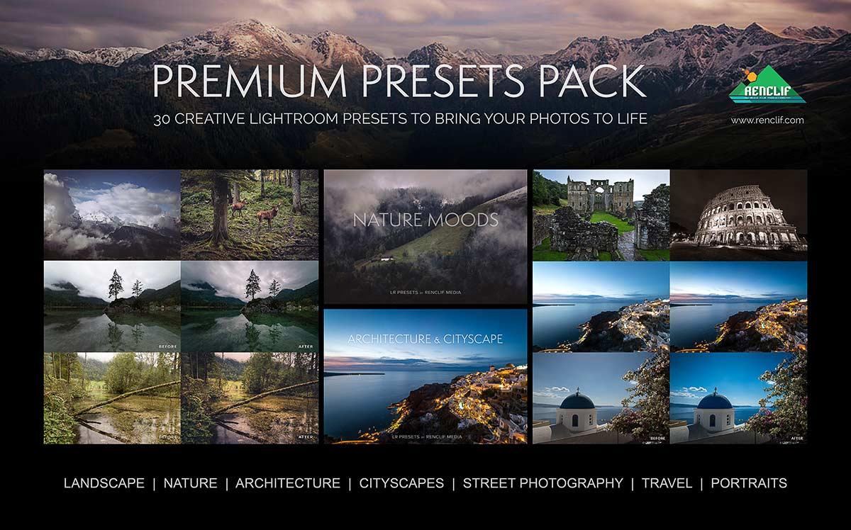 Premium presets pack 30 creative lightroom presets