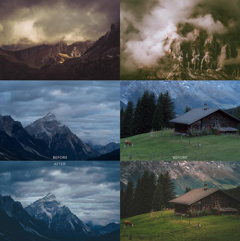 Nature Moods V2 moody lightroom preset sample photos