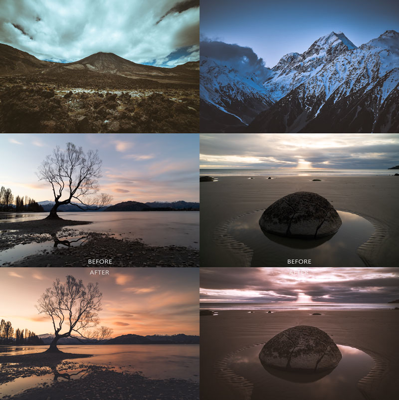 Moody lightroom preset collection
