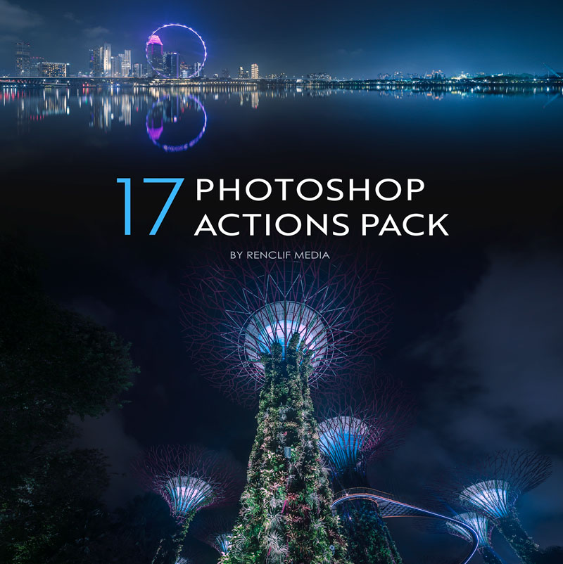 Photoshop actions pack artwork