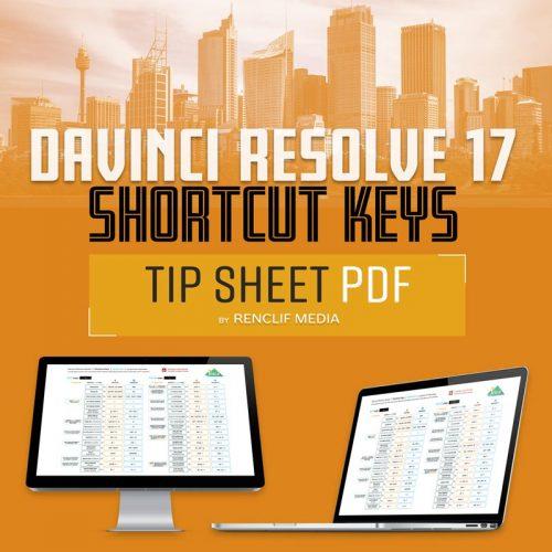 Davinci Resolve 17 Shortcut Keys PDF Free Download